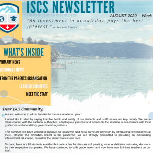 ISCS NEWSLETTER 28th AUGUST