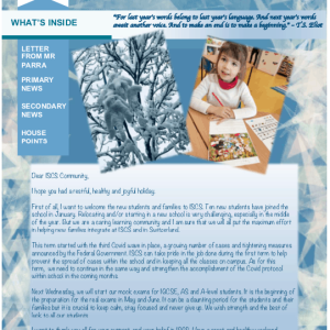 ISCS NEWSLETTER 15th JANUARY