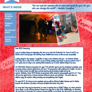 ISCS NEWSLETTER 12th MARCH
