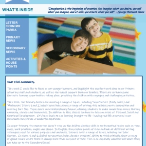 ISCS NEWSLETTER 30th April