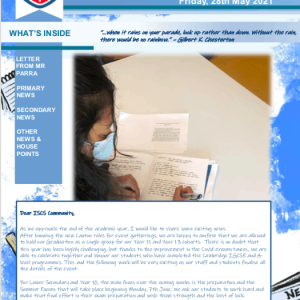 ISCS NEWSLETTER 28th May