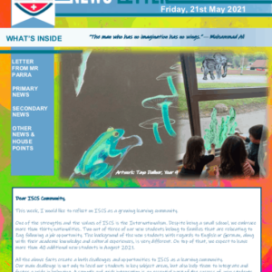 ISCS NEWSLETTER 21st May