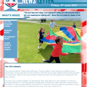ISCS NEWSLETTER 4th June